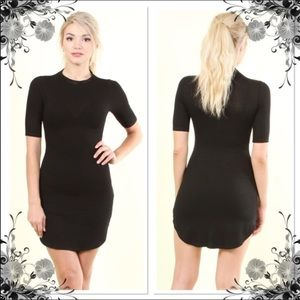 Scooped Sides Knit Dress